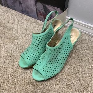 Cato Shoes - Mint wedges